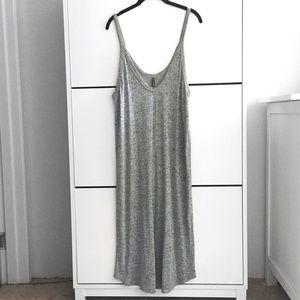 Heather Gray Sleeveless Tank Maxi Dress
